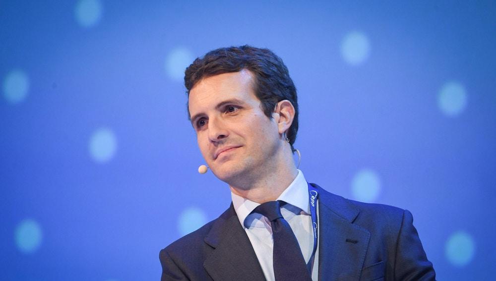 El líder del Partido Popular (PP), Pablo Casado