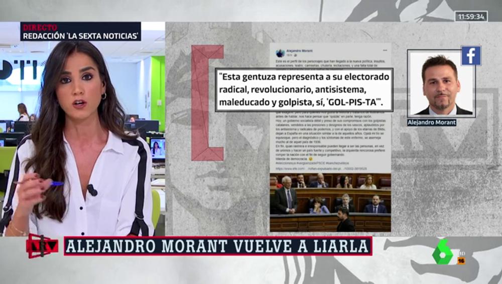 """""""Mierda de democracia"""", la crítica Alejandro Morant a Rufián y ERC: """"Esta gentuza representa a su electorado radical y golpista"""""""