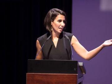 Ana Pasto durante la recogida del Premio Comunicación no sexista 2018