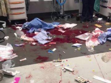 Las durísimas imágenes de denuncia de los médicos en EEUU contra los tiroteos