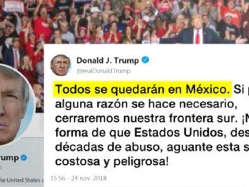 Trump amenaza sobre la entrada de migrantes a EEUU