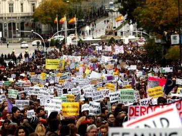 Miles de personas contra la violencia machista en Madrid (Archivo)