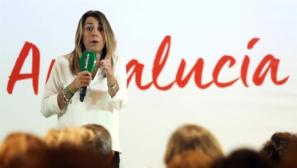 La Presidenta de la Junta de Andalucía en funciones, Susana Díaz