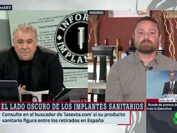 César García, afectado por un implante