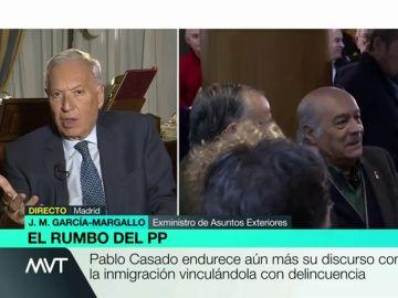 """García-Margallo analiza el nuevo rumbo del PP: """"Mi partido no intenta parecerse a VOX, sólo está definiendo su perfil"""""""