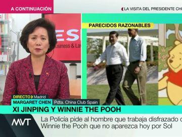 """Margaret Chen, sobre la polémica con Winnie the Pooh y Xi Jinping: """"No tenía importancia, se lo han inventado como si fuera un problema"""""""