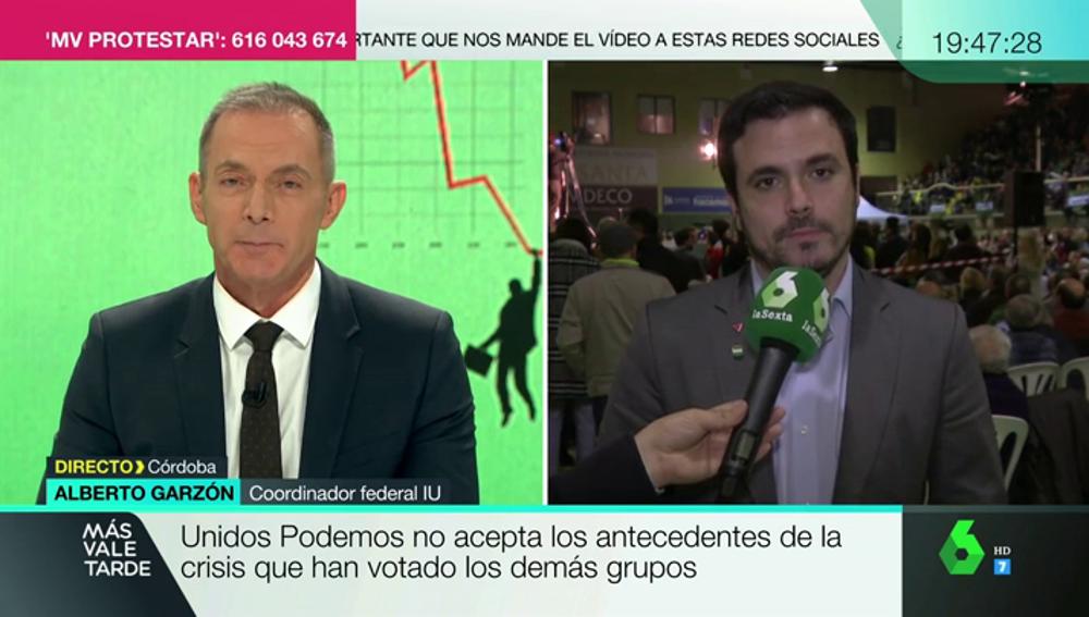 """Alberto Garzón, el informe de la Comisión de la Crisis Financiera: """"Rodrigo Rato vino al Congreso a chulearnos"""""""