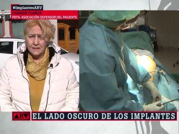 Flores, presidenta de la Asociación de Defensor del Paciente