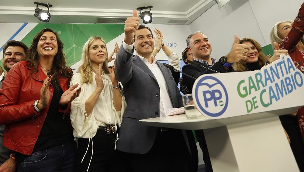 El candidato a la presidencia de Andalucía, Juanma Moreno