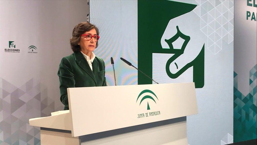 La consejera andaluza de Justicia e Interior, Rosa Aguilar