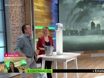 Roberto Brasero explica paso a paso cómo es la boina de contaminación que sufre Madrid