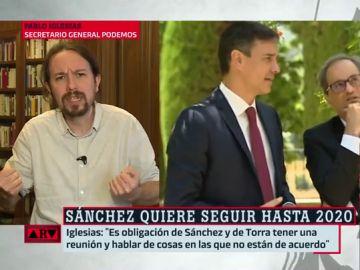 Pablo Iglesias, sobre Sánchez y Torra