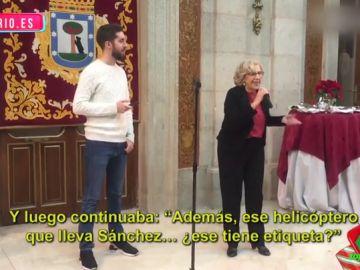 David Broncano y Manuela Carmena