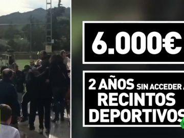 6.000 euros de multa y dos años sin entrar a recintos deportivos para dos padres