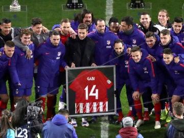 El Atlético homenajea a Gabi