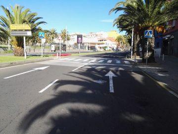 Imagen del lugar del atropello en Tenerife