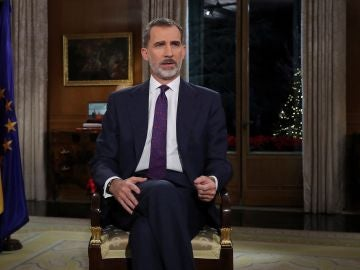 El Rey Felipe VI pronuncia el tradicional mensaje de Navidad