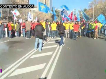 Manifestación de los trabajadores de Alcoa