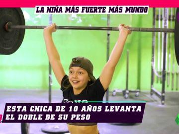 'Queen Beezy', la niña de 11 años que levanta 72 kilos, más del doble de su peso
