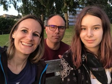 Jessica Share, Aaron Long y su hija Alicia