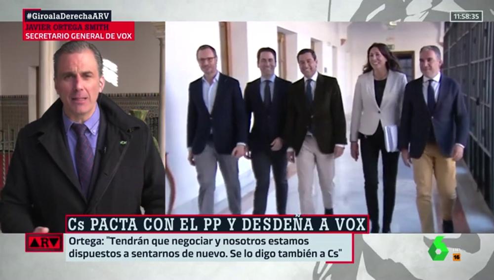 """Javier Ortega Smith: """"Nos ofrecieron consejerías pero no las aceptamos porque no podríamos impugnar las medidas"""""""