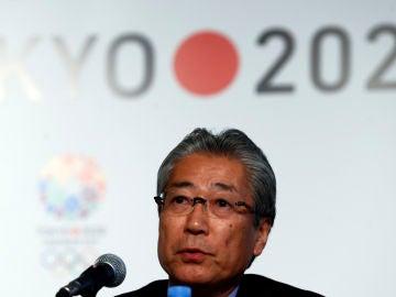 Tsunekazu Takeda, durante una comparecencia