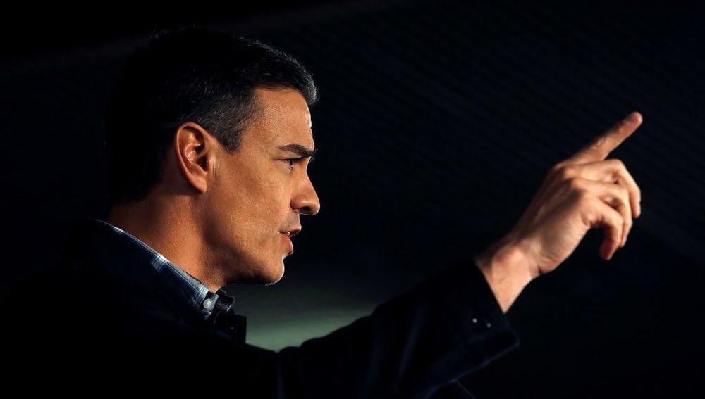 Pedro Sánchez en un acto en Barcelona