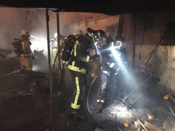 Incendio en varias infraviviendas de Leganés