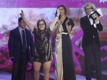 """Actores de la película """"Campeones"""" durante la 24 Edición de los premios Forqué"""