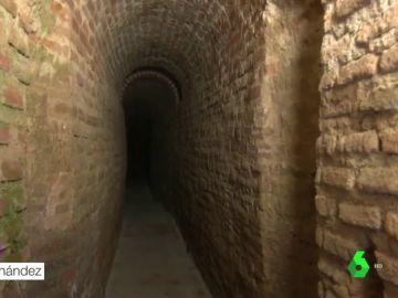 Túneles por los que pasa el agua en Madrid
