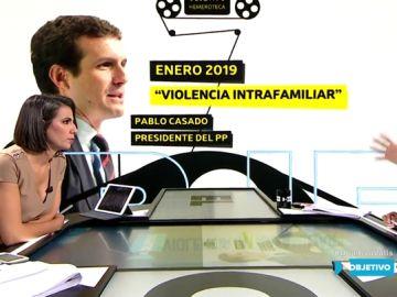 Hemeroteca sobre el término 'violencia intrafamiliar' al que se refiere Pablo Casado