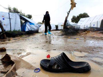 Imagen de archivo de un campo de refugiados