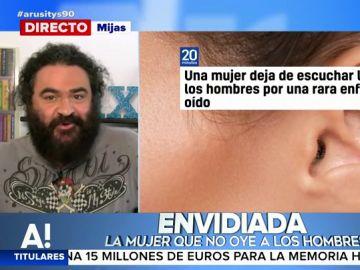 """El Sevilla, sobre la enfermedad que impide oír las voces masculinas: """"Muchas quisieran dejar de escuchar las tonterías que dicen los hombres"""""""