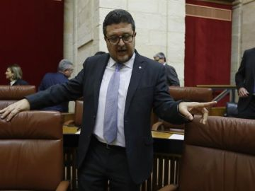 El portavoz de Vox en el Parlamento de Andalucía, Francisco Serrano