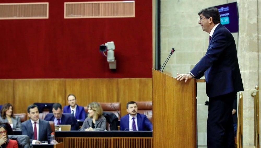 El líder andaluz de Ciudadanos, Juan Marín