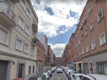 Calle donde se produjo el incendio