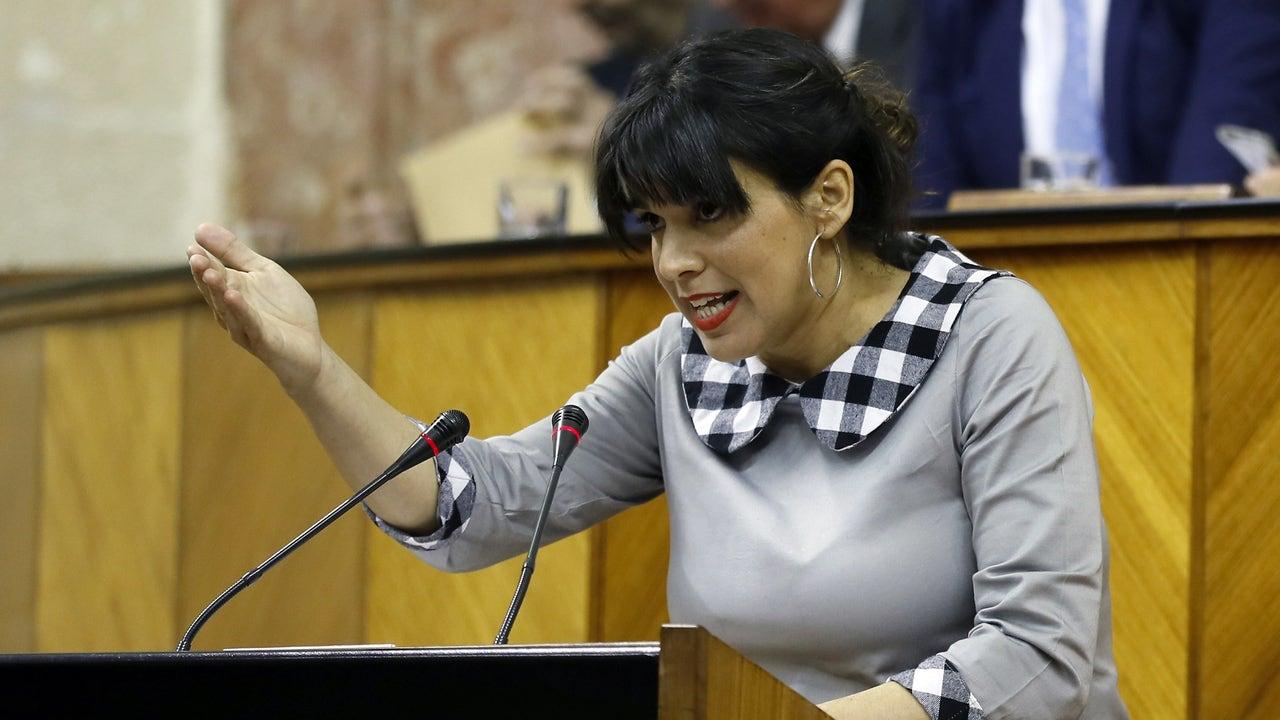 La líder de Adelante Andalucía, Teresa Rodríguez