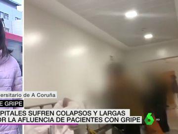 La gripe, epidemia en media España: colapso en los pasillos de los hospitales gallegos
