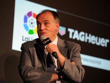 Javier Tebas en un evento de LaLiga