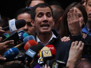El presidente de la Asamblea Nacional de Venezuela y autoproclamado presidente, Juan Guaidó,