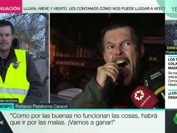 Saúl Crespo, portavoz de los taxistas en huelga