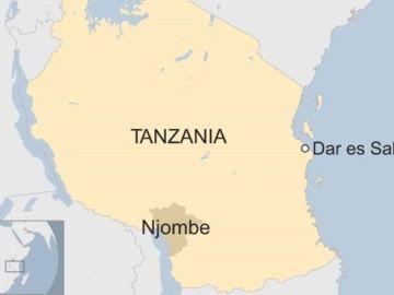 Mapa de Tanzania