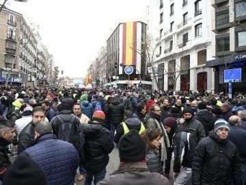 Los taxistas de Madrid se concentran en la calle Génova