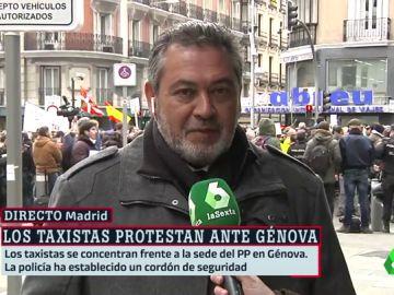 Julio Sanz, taxista y presidente de la Federación Profesional del Taxi