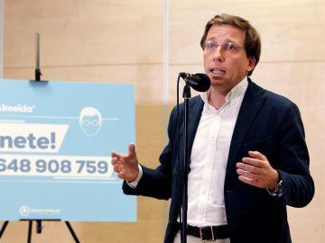 El candidato del PP a la Alcaldía de Madrid, José Luis Martínez-Almeida