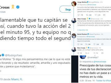 Cruce de tuits entre Marc Crosas y los jugadores del Getafe