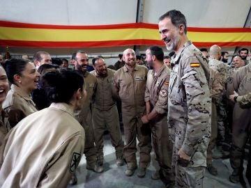 El rey Felipe VI celebra su cumpleaños en Irak