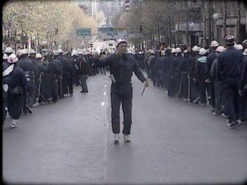 Así fue la 'Marcha Negra' en 1992: el día que los mineros asturianos y leoneses se levantaron contra la reconversión de su sector