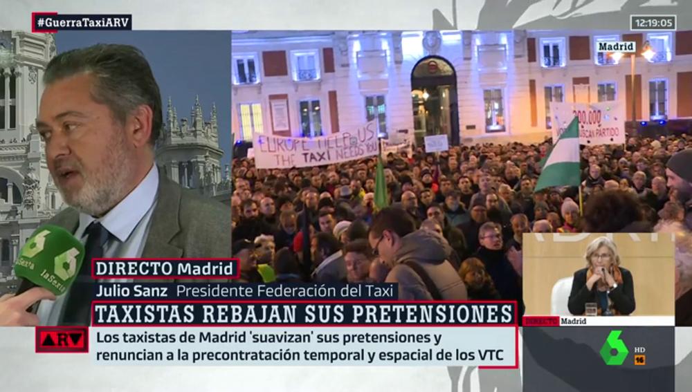 """Julio Sanz (Federación Taxi): """"Si recibimos la negativa por parte de la Comunidad de Madri, pensaremos en una estrategia más contundente"""""""