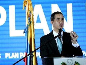 El autoproclamado presidente interino de Venezuela, Juan Guaidó